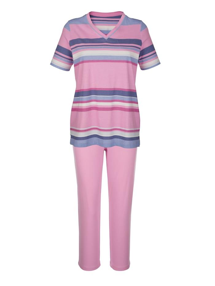 Pyžama, 2ks s nadčasovým prúžkovaným vzorom