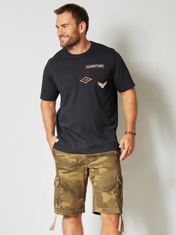 T-shirt met print achter