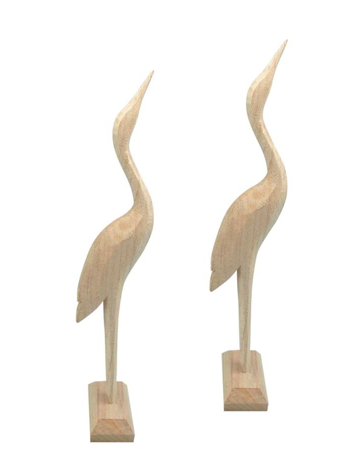 Creativ Deco Holz Reiher-Set, 2tlg., Natur