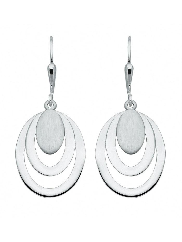 1001 Diamonds Damen Silberschmuck 925 Silber Ohrringe / Ohrhänger, silber