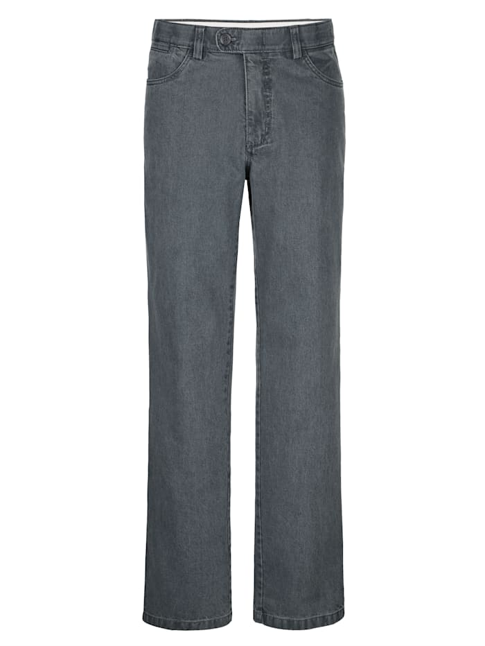 Roger Kent Jeans i strykfritt material, Grå