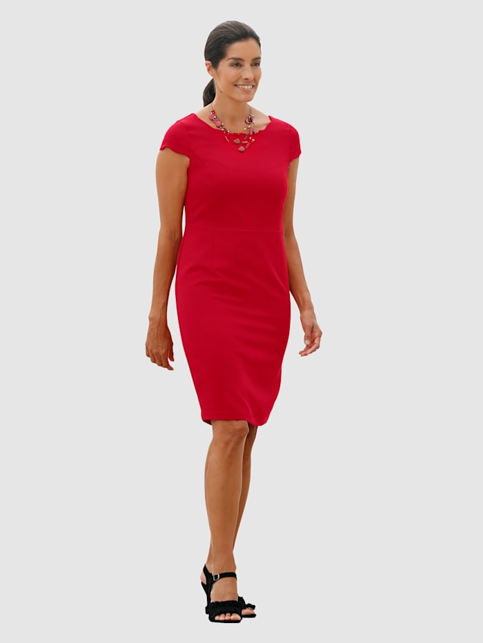 Laura Kent Kleid in Etuiform, Rot