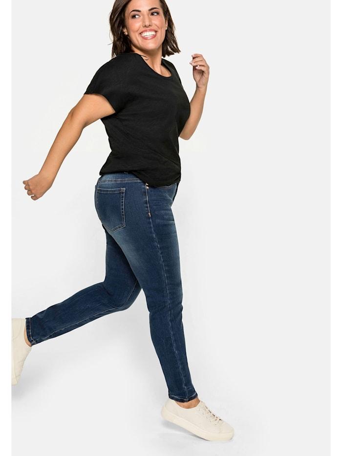 Sheego Jeans Skinny mit Bodyforming-Effekt, dark blue Denim