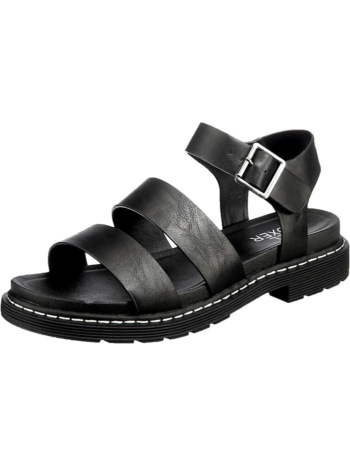 Bullboxer Klassische Sandalen, schwarz