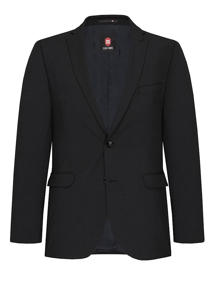 Club of Gents Anzug-Sakko CG Caden mit längerer Rückenlänge, Dunkelgrau