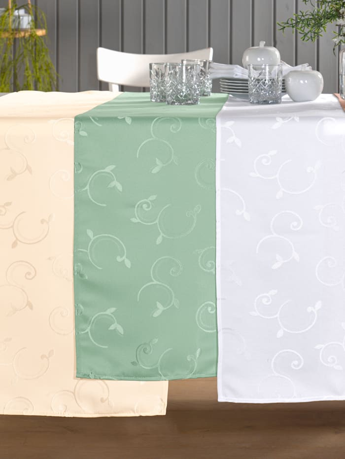 Webschatz Tischwäsche 'Zuri', grün