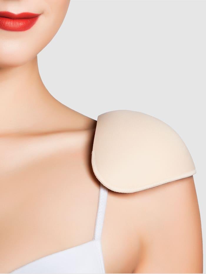 Shoulder pads with bra fastening