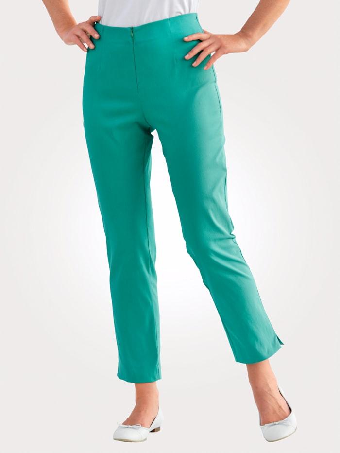 MONA Knöchelhose mit Baumwolle Basic, Smaragd