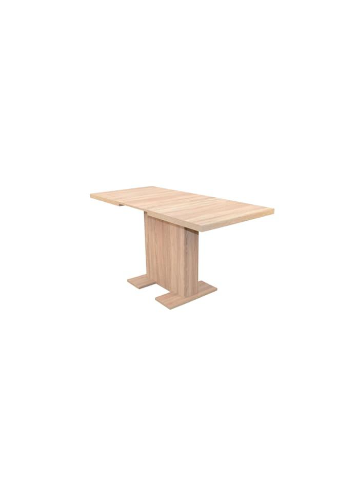 Möbel-Direkt-Online Säulentisch 110 - 150 cm Sandra, Sonoma-Eiche-Nachbildung