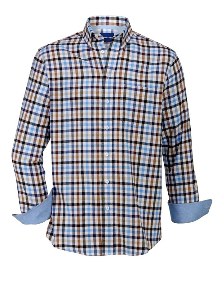 Overhemden per 2 stuks 1x effen & 1x geruit