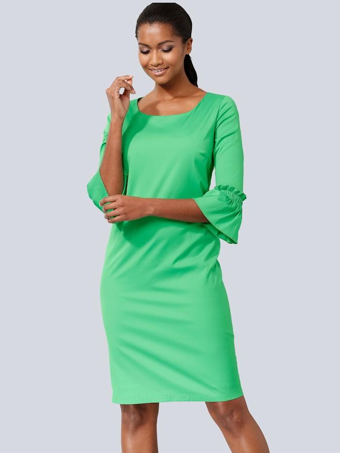 Kleid mit Volants am Ärmelabschluss