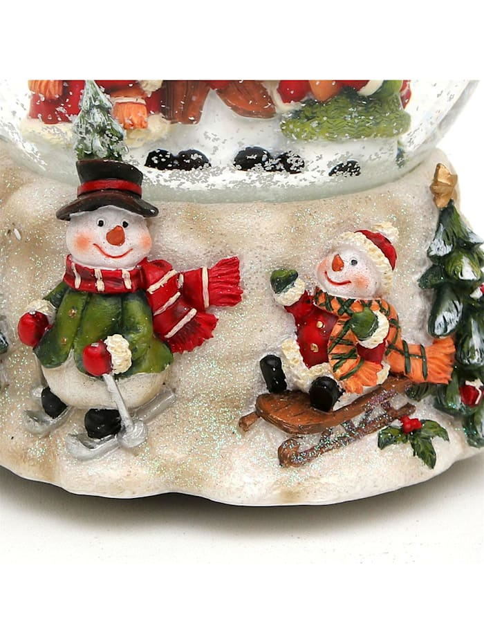 Schneekugel Schneemannfamilie