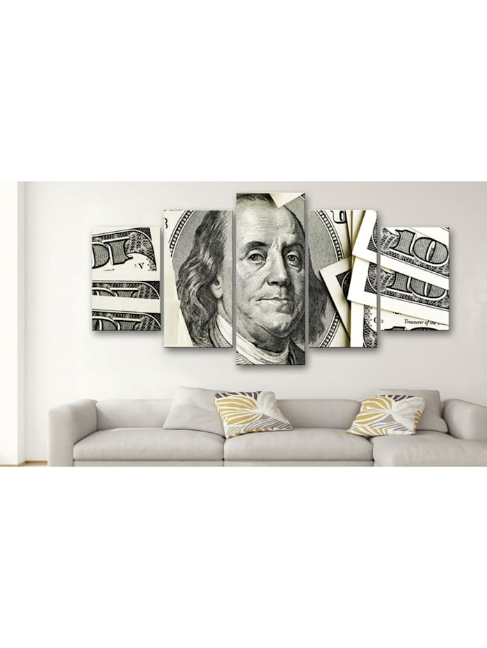 Wandbild $100: Benjamin Franklin