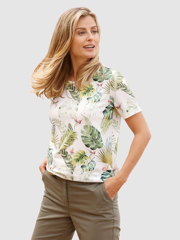 basically you Shirt mit schönem Druckdesign, Grün