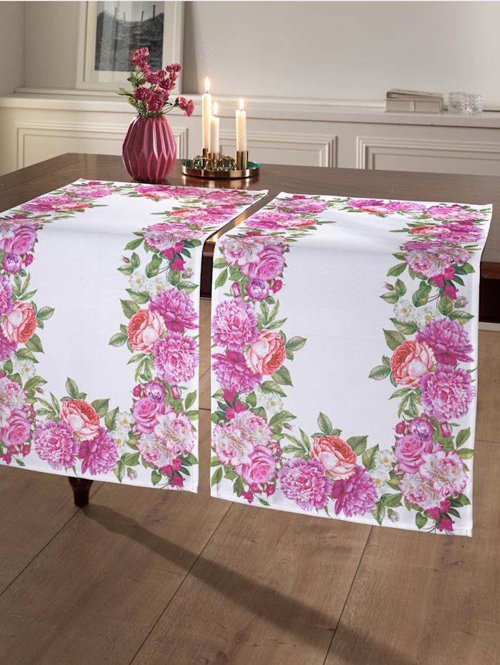 Webschatz Tischwäsche 'Yumi', Weiß/Rosé