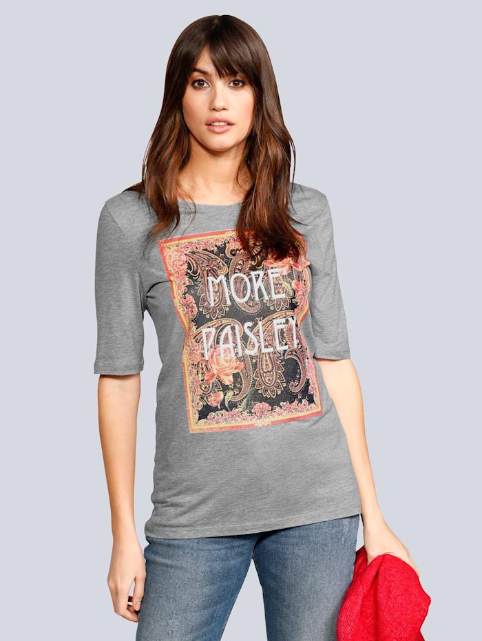 T-Shirt mit großflächigem Druck