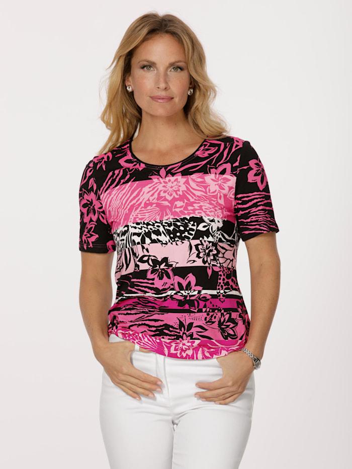 Barbara Lebek T-shirt, Noir/Rose vif