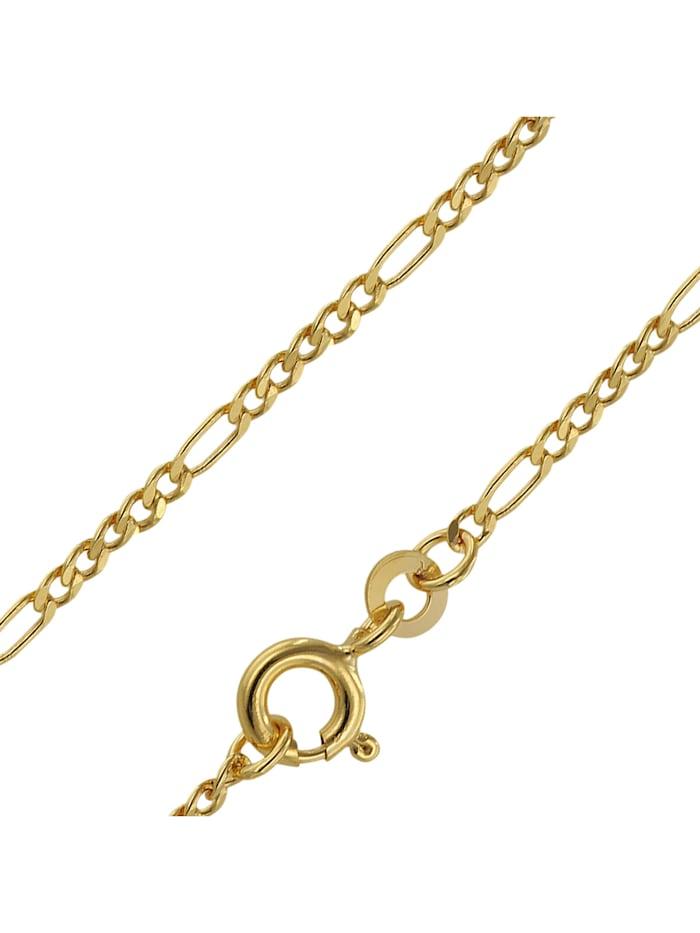 trendor Goldkette 333 Gold für Damen und Herren Figaro Diamantiert, Goldfarben