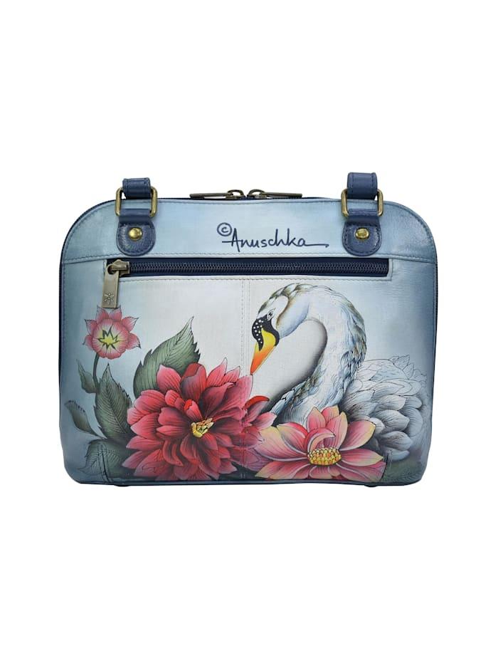 Umhängetasche Swan Song aus handbemaltem Leder