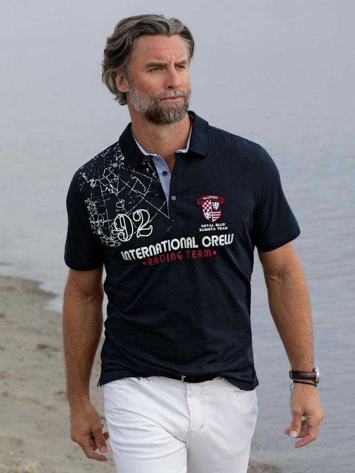 BABISTA Poloshirt mit maritimen Details, Marineblau