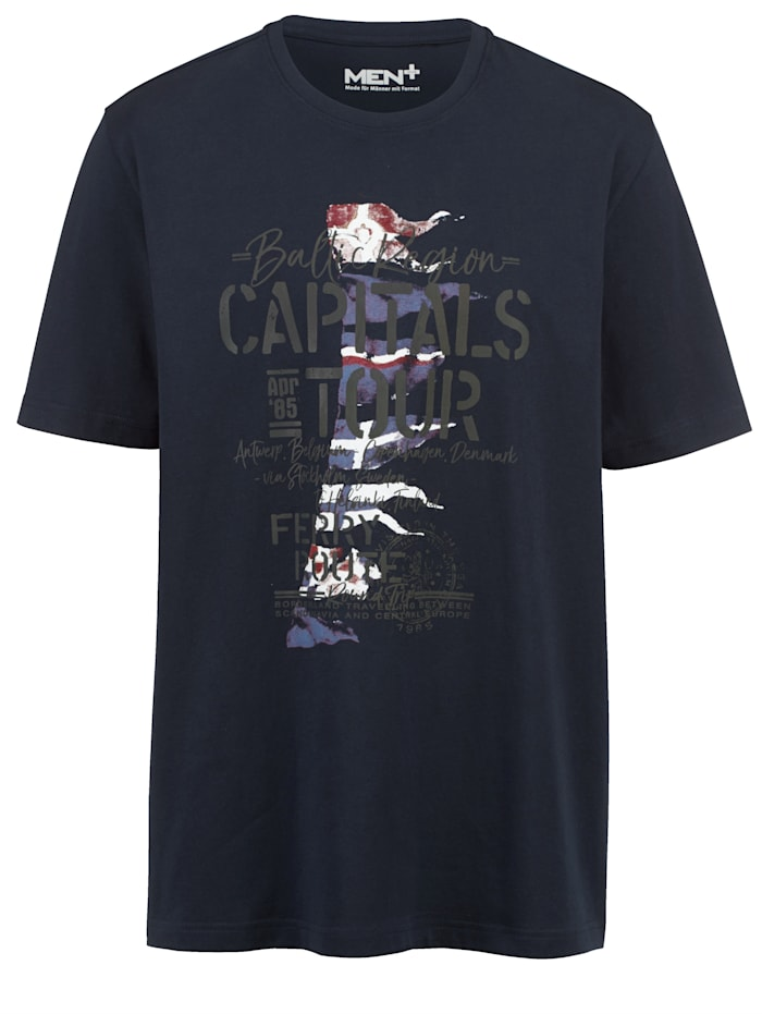 Men Plus T-shirt, Marine