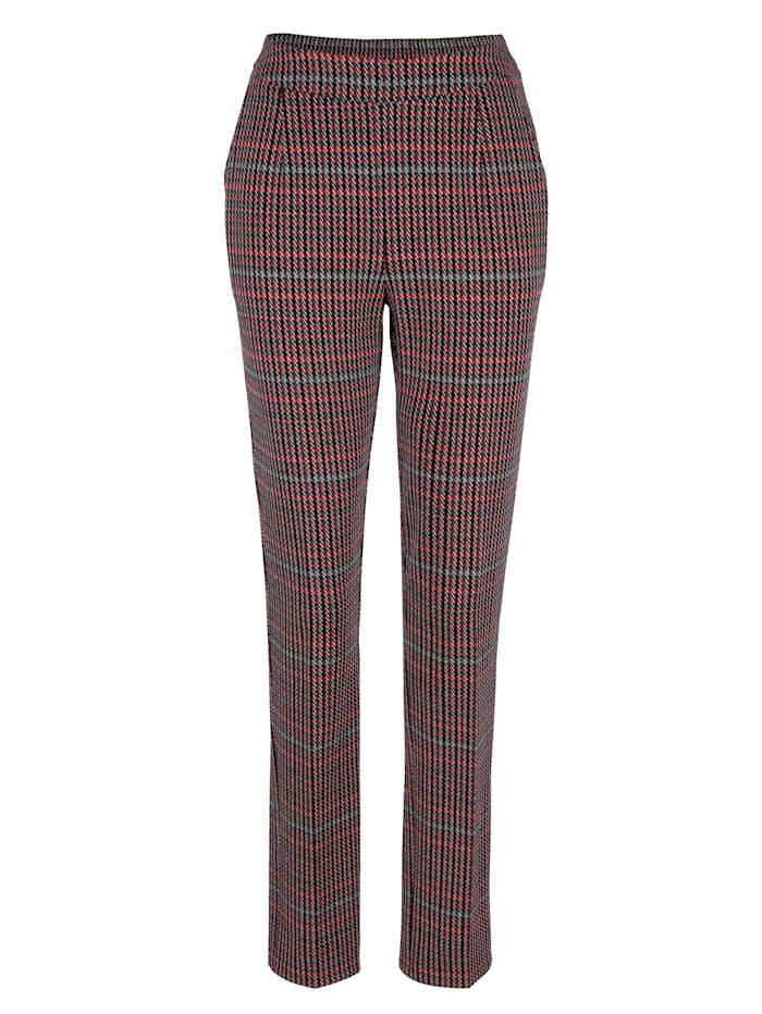 Jersey broek met pied-de-poule-dessin