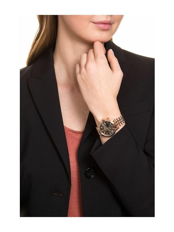 Chronograph für Damen, Edelstahl, Zirkonia