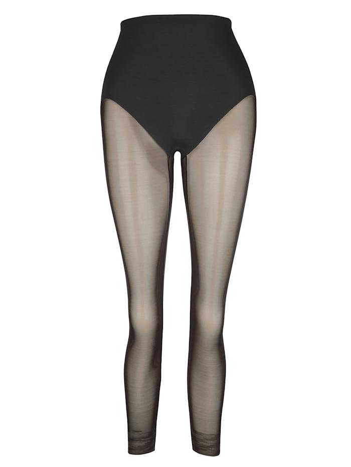 Naomi & Nicole Lang panty i leggingsmodell, Svart