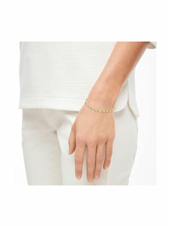 Armband für Damen, Silber 925 vergoldet mit Zirkonia