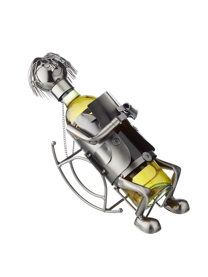 HTI-Living Weinflaschenhalter Auszeit, Silber