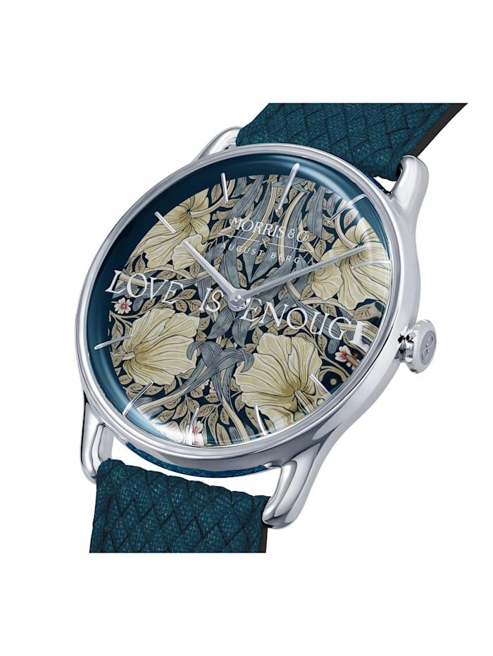 Uhr MORRIS & CO Silver Indigo Perlon 38mm