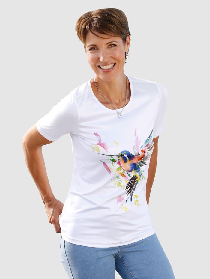 Paola T-shirt à imprimé placé, Blanc