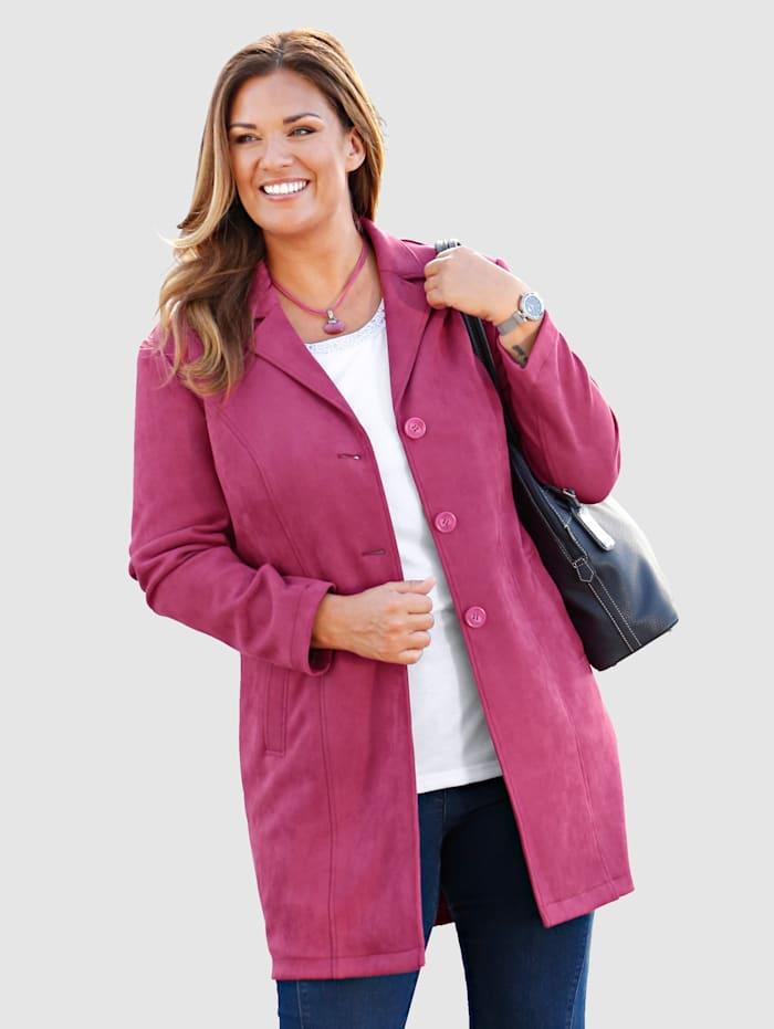 Robe manteau van comfortabel veloursmateriaal