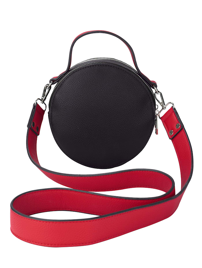 Collezione Alessandro Shoulder Bag Fashionable shape, Black/Red