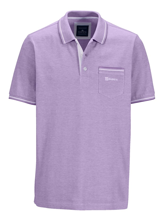Poloshirt in bicolor look