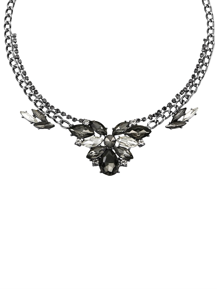 Love Inspiration Collier mit Glassteinen, Schwarz