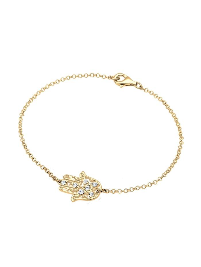 Armband Hamsa Hand Kristalle 925 Silber