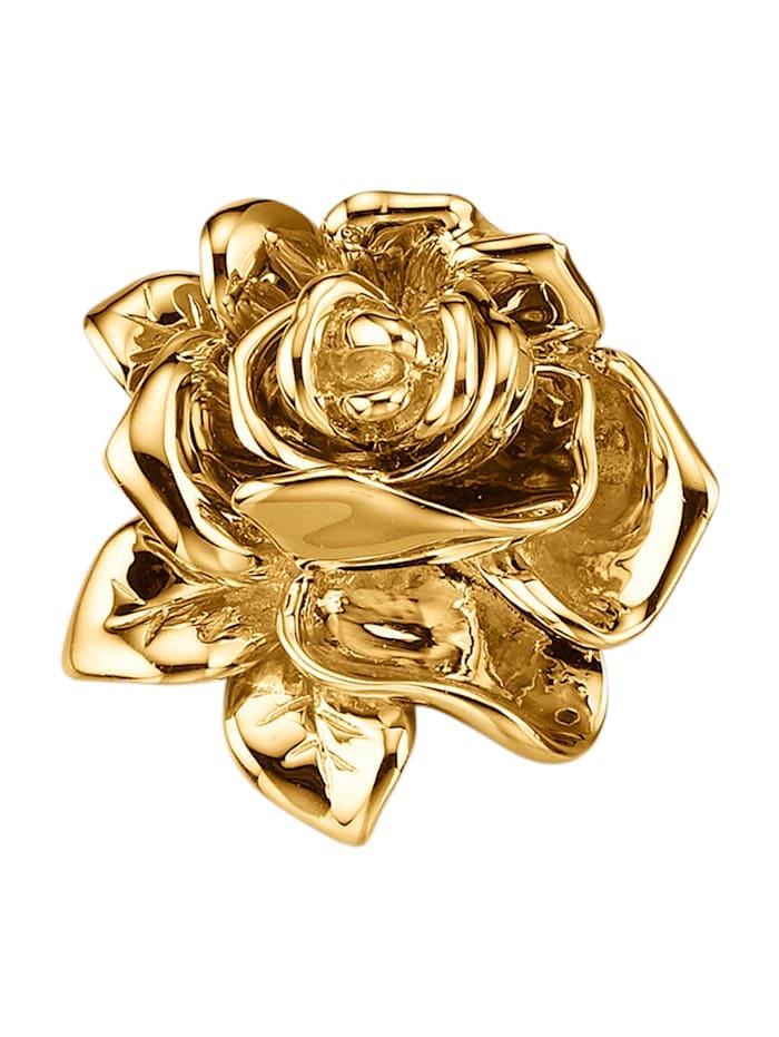Diemer Gold Rosen-Anhänger in Gelbgold 750, Gelbgoldfarben