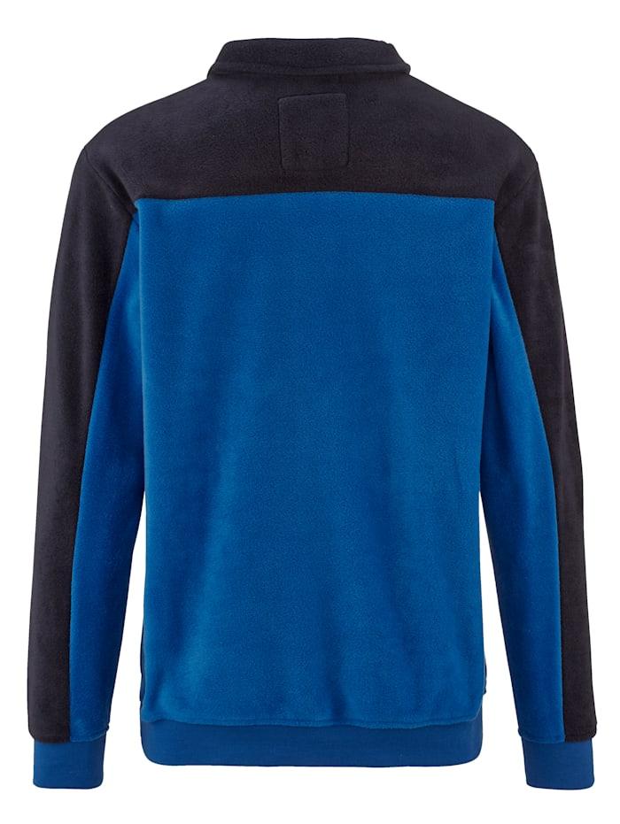 Fleece trui met borstzakje
