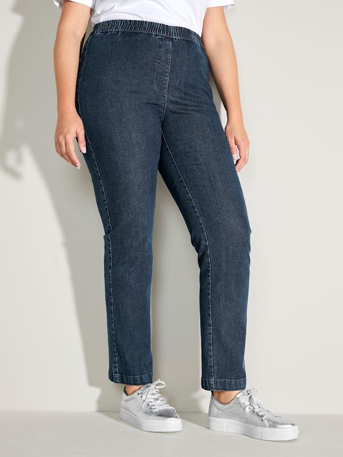 MIAMODA Jeans mit bequemem Dehnbund, Dark blue