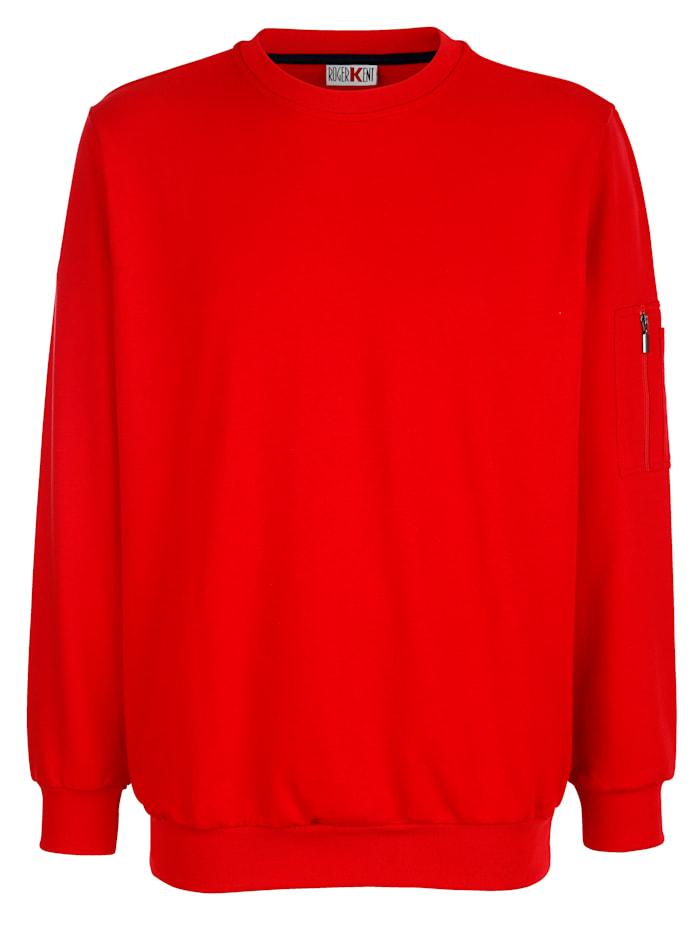Roger Kent Sweatshirt van zuiver katoen, Rood