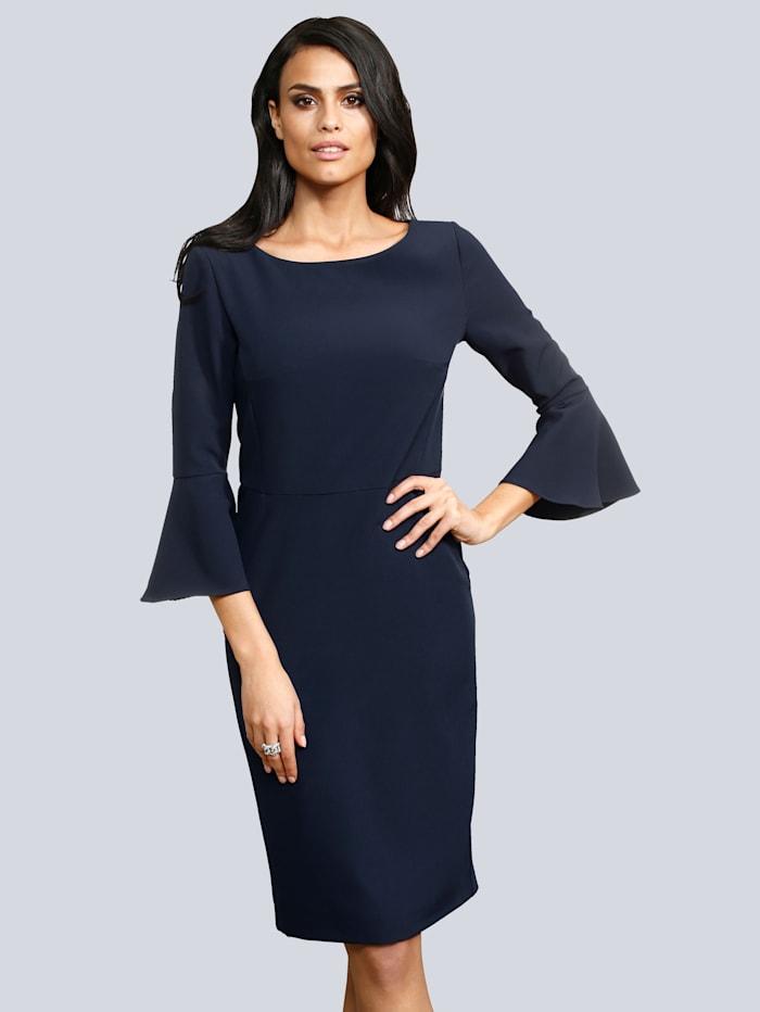 Kleid mit Volants am Ärmelsaum