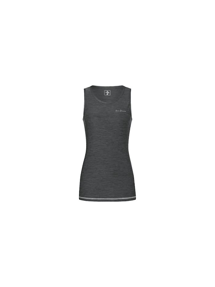 DEPROC ACTIVE LAKE LOUISE TOP WOMEN Funktionsshirt mit Rund-Ausschnitt, anthrazit