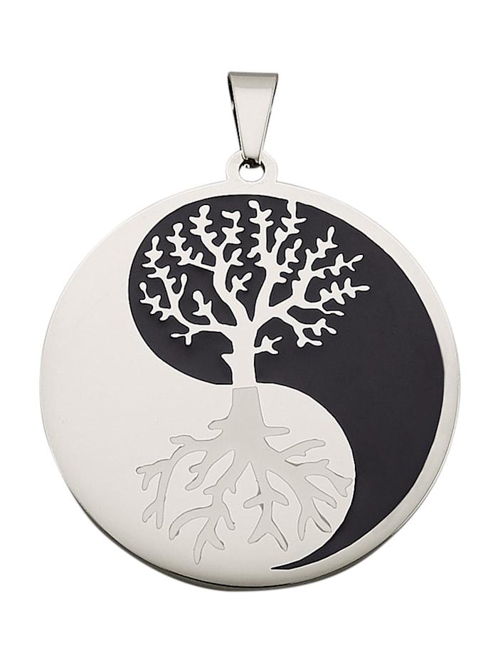 Magnetic Balance Yin Yang-Anhänger, Silberfarben
