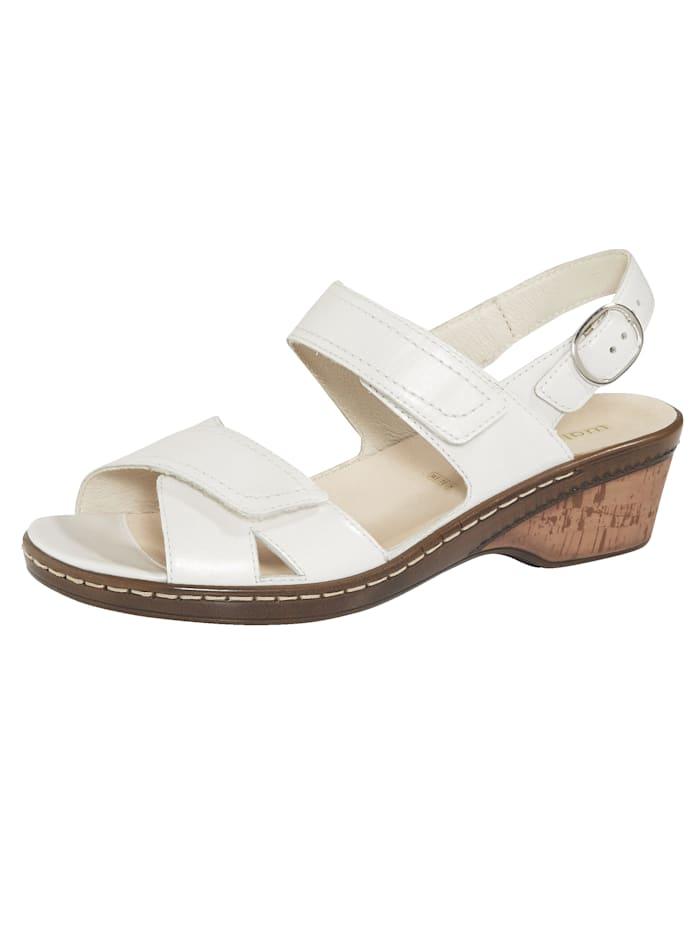 Waldläufer Sandale mit verstellbarer Fersenbandage, Off-white