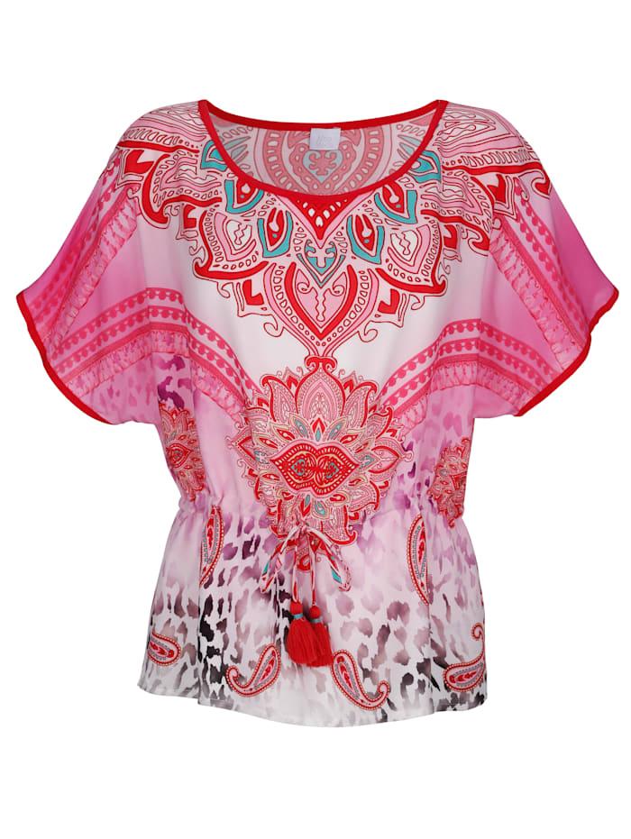 Alba Moda Shirtbluse mit Bindeband, Pink