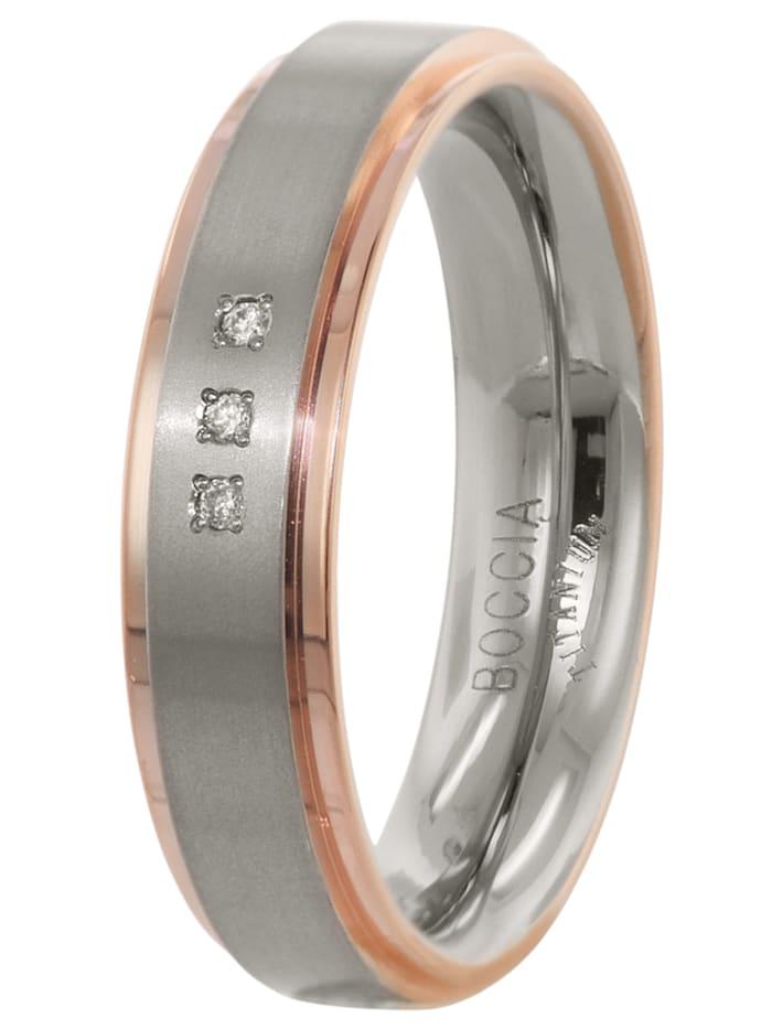 Boccia Damen-Ring Titan, bicolor