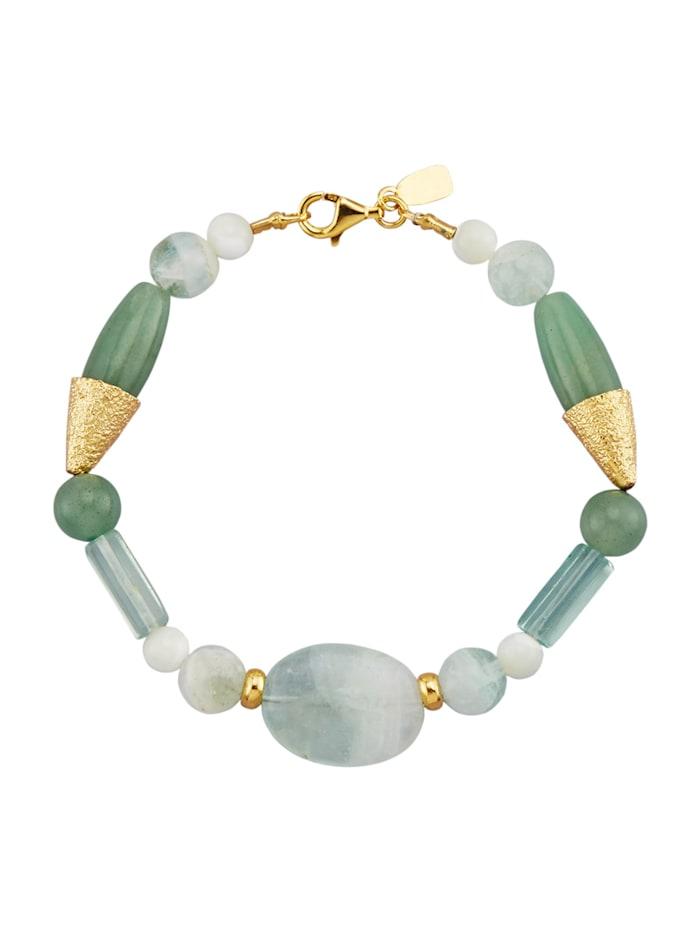 Armband med fluorit och aventurin, Grön