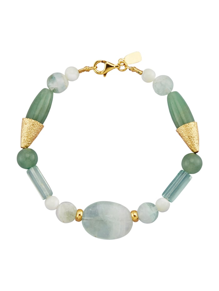 Armband van echt zilver, Groen