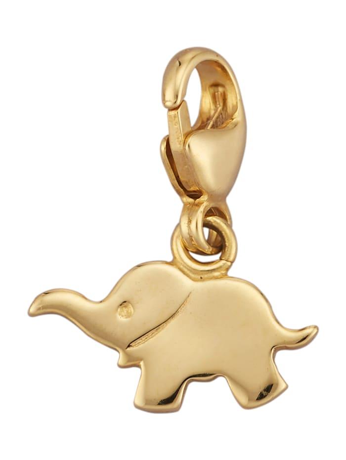 Elefant- Einhänger in Gelbgold 375, Gelb